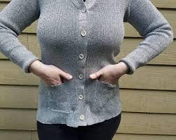 silver cardigan sweater metallic cardigan etsy