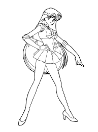 sailor moon coloring pages pose kiddypicts
