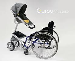 rollstuhl design kinderwagen für den rollstuhl cursum stroller by sjöblom