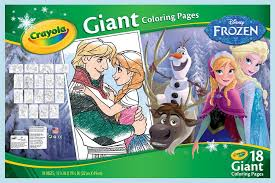 amazon crayola frozen giant coloring pages toys u0026 games