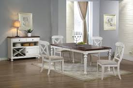 white dining room chairs in impressive expandable round table on