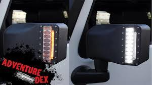 jeep wrangler mirrors jeep wrangler led mirror installation tutorial