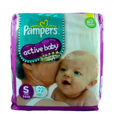 Comfort Diapers Pampers Active Baby 5 Stars Skin Comfort 3 8kg 22 Diapers Small