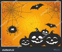 cute spooky background fun cute cartoon halloween post card stock vector 474810421