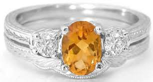 citrine engagement rings antique citrine diamond engagement ring in 3 design with