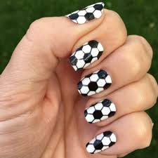 soccer nail wraps black u0026 white hexagons sports nail art