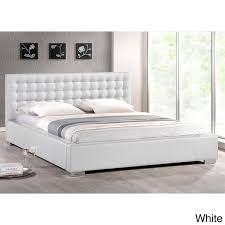 Madison Upholstery Brilliant White Full Headboard Baxton Studio Madison White Modern
