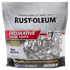 shop rust oleum epoxyshield tan paint color flakes at lowes com