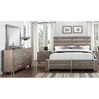 gray u0026 silver contemporary 6 piece king bedroom set buena vista