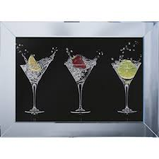 shh interiors cocktail glasses black background framed liquid