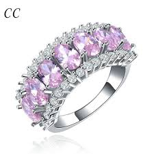 beautiful ladies rings images Ladies 39 jewelry gift beautiful pink aaa rings for women wedding jpg