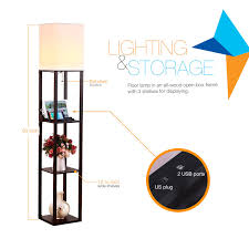 brightech store brightech u2013 maxwell usb shelf floor lamp u2013 mood