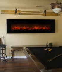 Wall Mounted Electric Fireplace Flames 95 Inch Wall Mount Linear Electric Fireplace
