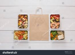 healthy food delivery take away natural stock photo 577294351