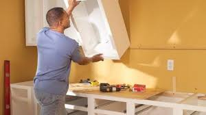 How To Put In Kitchen Cabinets Astounding Installing Kitchen Cabinets How To Install Cost At