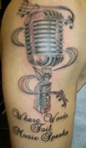 music musical instruments mike microphone tattoo image galleries