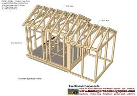 Yard Sheds Plans by Home Garden Plans Cb200 Combo Plans Chicken Coop Plans