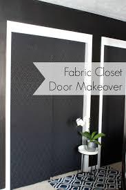 Fabric Closet Doors Closet Door Makeover With Fabric Closet Doors Doors And Closet