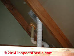 vent bathroom fan through roof routing a bath vent duct down out or up through an attic or roof