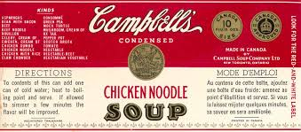 campbell u0027s chicken alphabet soup can label 1970 u0027s 1980 u0027s