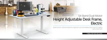 sit stand dual motor height adjustable table desk frame electric