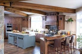craftsman style oak kitchen cabinets cabinet ideas remodel mission