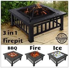 Garden Firepits Garden Mile 3 In 1 Black Garden Pit Wood Burner Modern