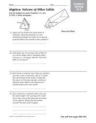 volume word problems worksheet worksheets releaseboard free