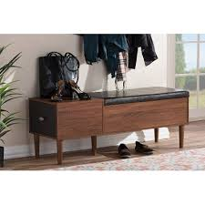 Bench With Shoe Storage Entryway Storage Bench Shoe Cabinet Merrick Rc Willey