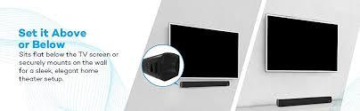 Sound Bar On Top Or Below Tv Amazon Com Soundbar Taotronics Sound Bar Wired And Wireless