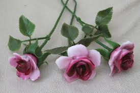 capodimonte roses capodimonte style vintage china flowers stemmed