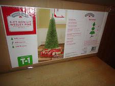 time unlit 6 greenwood pine artificial tree ebay