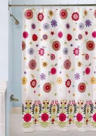 Shower Curtains Ebay Gold Embroidered Fabric Shower Curtain With Scalloped Valence
