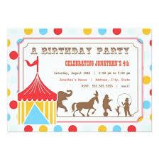 birthday invitation circus invitation card