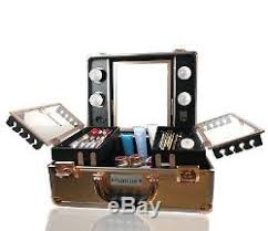 makeup luggage with lights kemier makeup train case cosmetic organizer box makeup case with