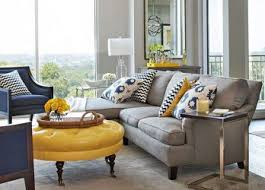 yellow living room grey and paint wall art color accessories gray