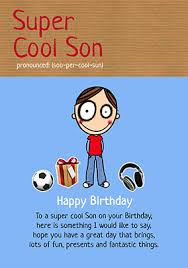 son birthday cards funky pigeon