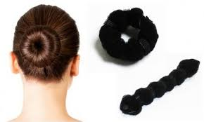 hair buns styling solution roll snap and wrap hair buns 2 groupon