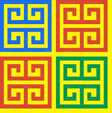 Greek Motifs 5 Geometric Greek Keys Decorative Borders Versace Inspired Autumn