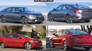 honda civic or hyundai elantra formerly the honda portal driving ca car comparison 2016 honda
