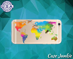 Watercolor Map Of The World by World Map Watercolor Clear Case Rainbow Paint Iphone
