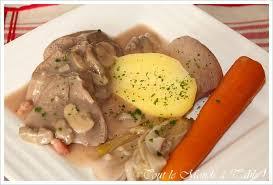 cuisine langue de boeuf langue de boeuf sauce madère aux chignons tout le monde à table