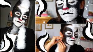 maquillage halloween de mouffette facile u0026 original youtube