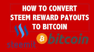 how to convert steem dollar rewards to bitcoin youtube