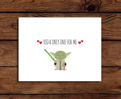 yoda valentines card wars card printable yoda only one for me by