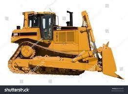 this side view new caterpillar bulldozer stock photo 3057467