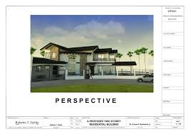 a proposed two storey spanish mediterranean residential building