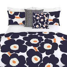 Marimekko Duvet Blue And Orange Single Duvet Cover Sweetgalas