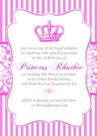 princess invitation template orax info