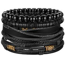 adjustable braided leather bracelet images Jstyle 4pcs braided leather bracelet for women mens jpg